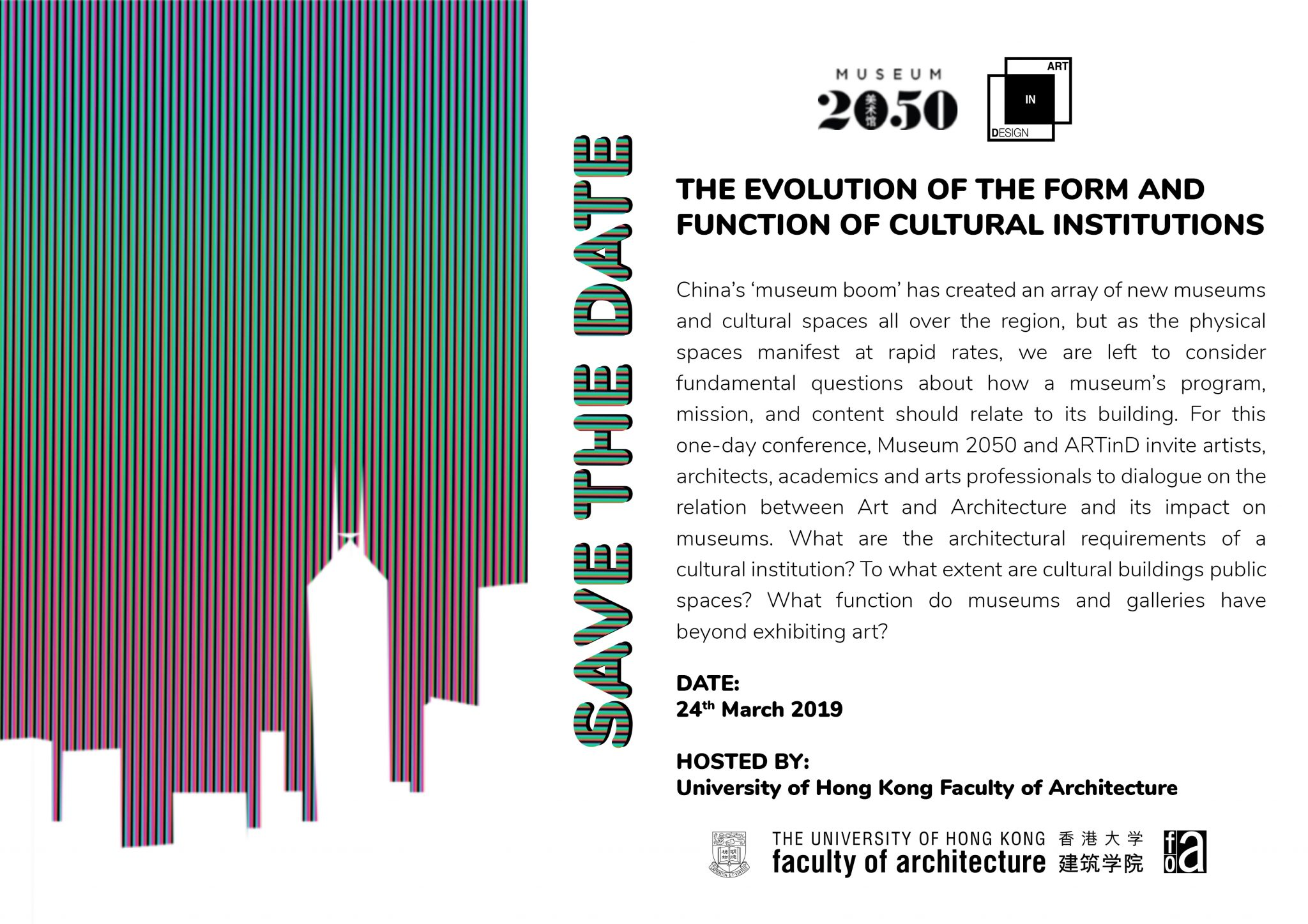Save the Date I March 24th Conference I The Evolution of the Form and Function of Cultural Institutions